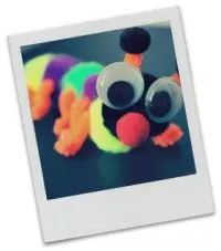 Insect Crafts for Kids - Cute and colorful pom pom caterpillar