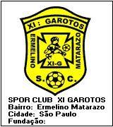 SPORT CLUB XI GAROTOS - SÃO PAULO - MEGA DISTINTIVOS™ - Clubes de Futebol do Mundo