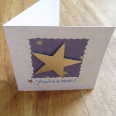 You're a star card by onelittlepug on Etsy, $2.25