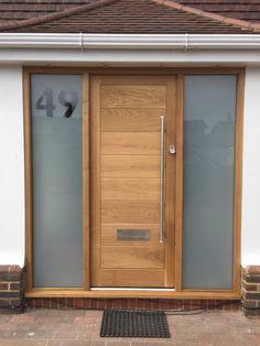 Timber Front Door, Hardwood Front Doors, Front Door Porch, Porch Doors, Front Porch Design, Wooden Front Doors, House Front Door, Modern Front Porches, Modern Front Door