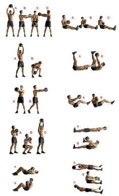 Medicine ball routine