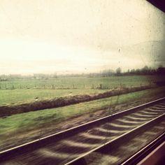 In the train...