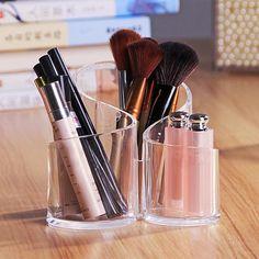 Swirl Shaped Organizer    Beautiful makeup organization   storage solutions