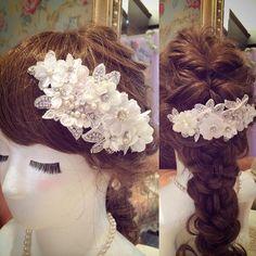 オシャレ花嫁さん必見*ヘッドアクセは可愛い『リボンカチューシャ』でキマリ♡にて紹介している画像