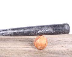 Noir de batte de Baseball bois / Baseball Decor / Louisville Slugger Hillerich et Bradsby / Bat de Baseball en bois / Retro Bat / Softball Bat