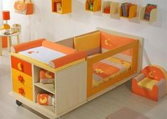 cunas-de-madera- Baby Cribs, Ideas Para, Baby Room, Toy Chest, Storage Chest, Toddler Bed, Furniture Design, Nursery, Children