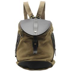 "Using high quality canvas and crazy horse  leather production, with mobile phone bags,  computer sandwich, Shape is cylindrical. Material: excellent Canvas Antique cow  leather from Italy; durable cotton fabric lining; bronze tone hardware Dimensions:  W: 11"" (28 cm)  H: 15.35"" (39 cm)  D..."