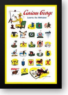 Curious George Alphabet poster
