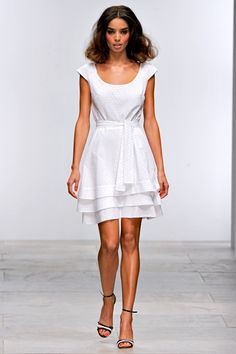 Cutest white dress.   Issa spring 2012 ready-to-wear.
