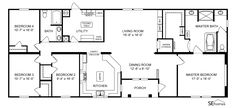 Clayton Homes | Home Floor Plan | Manufactured Homes, Modular Homes, Mobile Home Nice Utility Room 2220 sq ft, 3 Beds, 2 Baths $115,000 - $149,000
