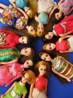 "Love my toys from the 70's... 6.5"" fashion Dawn Dolls...like barbie they too had many clothes, shoes, accessories...I still have mine"