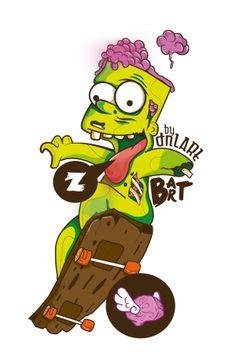 Zombie Cartoon by Daniel Villanueva, via Behance