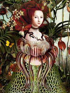 surrealista moderno 'Miss Eve' Art Print by Catrin Welz-Stein Collages, Collage Art, Art Et Illustration, Illustrations, Image Originale, Pop Surrealism, Wassily Kandinsky, Land Art, Surreal Art