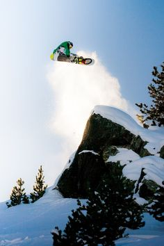 Tyler Chorlton / Frontside 360 Cliff Drop / Grandvalira, Andorra / Photo: Matt Georges #snowboard