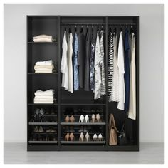 PAX Armoire-penderie - brun noir - IKEA but in a different color Ikea Closet, Closet Bedroom, Closet Storage, Bedroom Storage, Bedroom Organization, Wardrobe Storage, Closet Space, Pax Corner Wardrobe, Pax Wardrobe