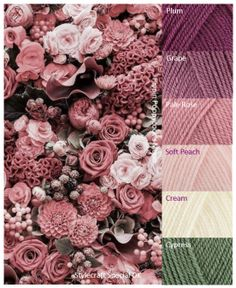 New crochet flowers blanket color combos Ideas Yarn Color Combinations, Color Schemes Colour Palettes, Colour Pallette, Color Palate, Pantone, Decoration Palette, Yarn Colors, Colours, Color Theory