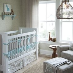 Taupe Suzani Crib Bedding Collection