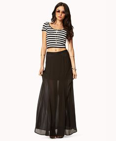 Lace-Trimmed Maxi Skirt | FOREVER21 i have the top. just need the skirt