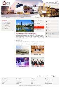 Austria Center Vienna website inspiration