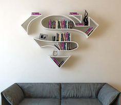 Superman Logo Shaped Concept Bookshelf