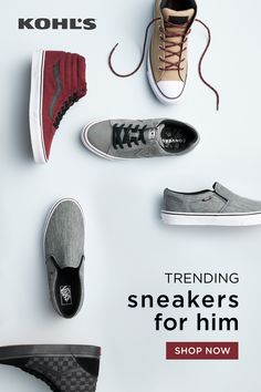 19e2e2ab Find your new favorite sneakers at Kohl's. From Vans shoes to Converse and  beyond,
