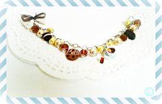 Pulsera tacita choco con naranja  labellanuvoletta@gmail.com  si te gusta y quieres comprarlo no dudes en escribirme Jewelry, Orange, Bangle Bracelets, Sweet Treats, Xmas, Jewlery, Jewels, Jewerly, Jewelery