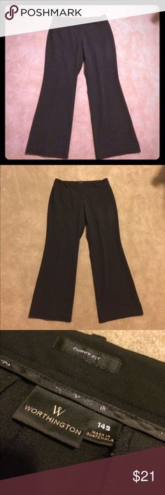 Worthington curvy fit black dress pants Make an offer! No trades. Bundle and save! Worthington Pants Trousers