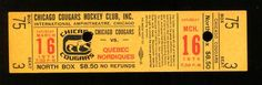 1974 Quebec Nordiques V Chicago Cougars WHA Hockey Full Ticket 3 16 74 | eBay