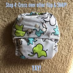 How to turn your one sized cloth diaper into a newborn size!