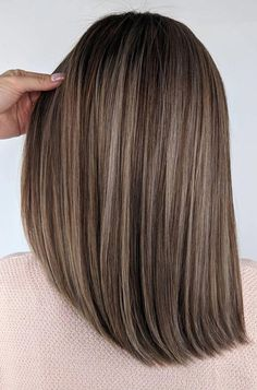 30 Gorgeous Hairstyles And Fabulous Hair Color - Hair and Beauty eye makeup Idea. -: 30 Gorgeous Hairstyles And Fabulous Hair Color - Hair and Beauty eye makeup Idea. - 62 best of balayage shadow root babylights hair colors for 2019 45 Brown Hair Shades, Light Brown Hair, Brown Hair Colors, Natural Hair Color Brown, Brown Hair Balayage, Hair Color Balayage, Ombre Hair, Balayage Straight, Balayage Hair Brunette Medium