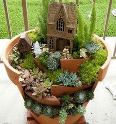 ❤ Tündérkert törött virágcserépből - kreatív újrahasznosítás ❤Mindy -  kreatív ötletek és dekorációk minden napra