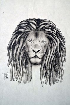 rasta lion drawing - Google Search