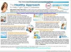 TYPE 2 PROJECT YOU!  HELP FOR THE DIABETIC COMMUNITY! HTTP://WWW.BEACHBODYCOACH.COM/SARAHBOWIETHAWL