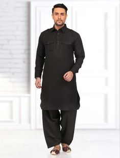 Get the dashing look with this stunning Pathani Suit having Rust colored Lycra fabric kameez has Black colored thin dots. Paired with contrast Black bottom for a classy look. Pathani For Men, Pathani Kurta, Boys Kurta Design, Mens Suits Online, Ethenic Wear, Sherwani, Kurta Designs, How To Look Classy, Wedding Suits