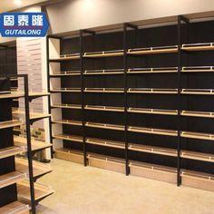 Shop Shelving, Diy Storage Shelves, Shelves For Sale, Retail Shelving, Display Shelves, Wooden Shelves, Supermarket Design, Retail Store Design, Retail Stores