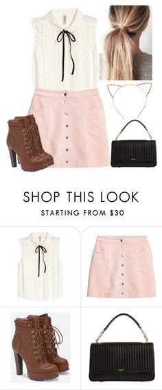 """""""Fall"""" by preshnimahanta on Polyvore featuring H&M, JustFab and DKNY"""