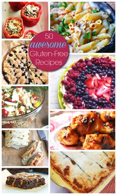 50 awesome Gluten-Free Recipes - from apps to sides, entrees and desserts! #recipes #glutenfree
