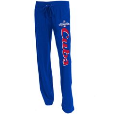 Chicago Cubs 2016 World Series Champions Women's Solid Knit Lounge Pants  #ChicagoCubs #Cubs #FlyTheW #WorldSeries SportsWorldChicago.com