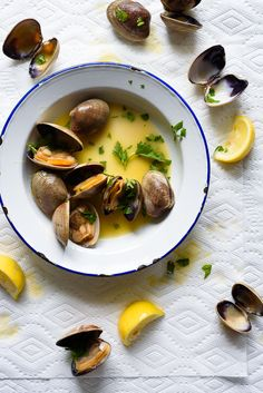 Grilled Manila Clams with Lemon Herb Butter | via forkknifeswoon.com ...
