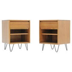 Pair of Luther Conover of Sausalito California Modernist Nightstands | From a unique collection of antique and modern night stands at https://www.1stdibs.com/furniture/tables/night-stands/