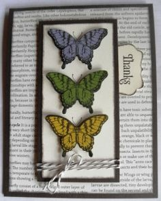 Handmade card using Papillon Potpourri stamp set by Stampin' Up!