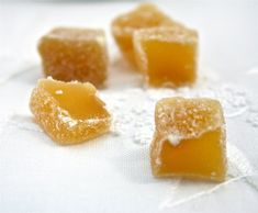 JENGIBRE CONFITADO casero de food and cook by trotamundos Candied Fruit, Decadent Cakes, Tasty, Yummy Food, Fruit Recipes, Sin Gluten, Sweet Tooth, Sweet Treats, Bakery