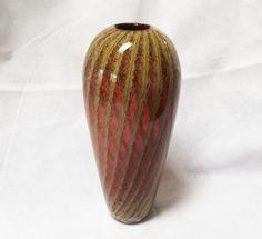 Vintage Signed Amethyst Cased Art Glass Vase