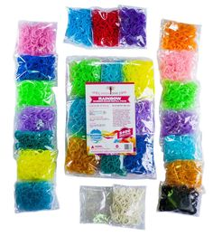Hey, I found this really awesome Etsy listing at https://www.etsy.com/listing/176726043/rainbow-braid-rubber-bands-rainbow-loom