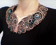 handmade copper wire necklace https://www.etsy.com/shop/Tangledworld?ref=hdr_shop_menu