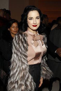Dita von Teese Semana moda Nueva York