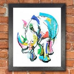 Buy Framed Wall Art with Rhino Color designed by Casey Rogers. One of many amazing home décor accessories items available at Deny Designs. Rhino Art, Limited Edition Prints, Framed Wall Art, Giclee Print, Throw Pillows, Cushions, Small Pillows, Art Prints, Animal Prints