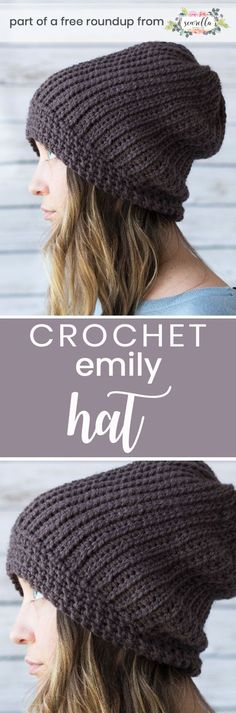 Get the free crochet pattern for this Emily beanie hat from Margo Knits featured in my crochet that looks knit FREE pattern roundup!