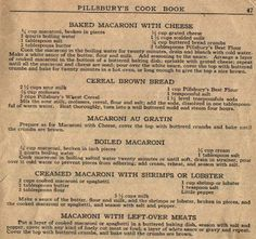 Things Your Grandmother Knew: 5 Vintage Macaroni Recipes.