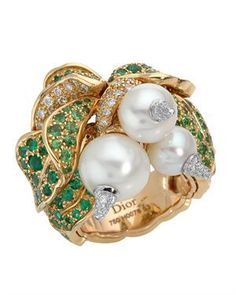 Christian Dior Ring Designed In 18K Two Tone Gold